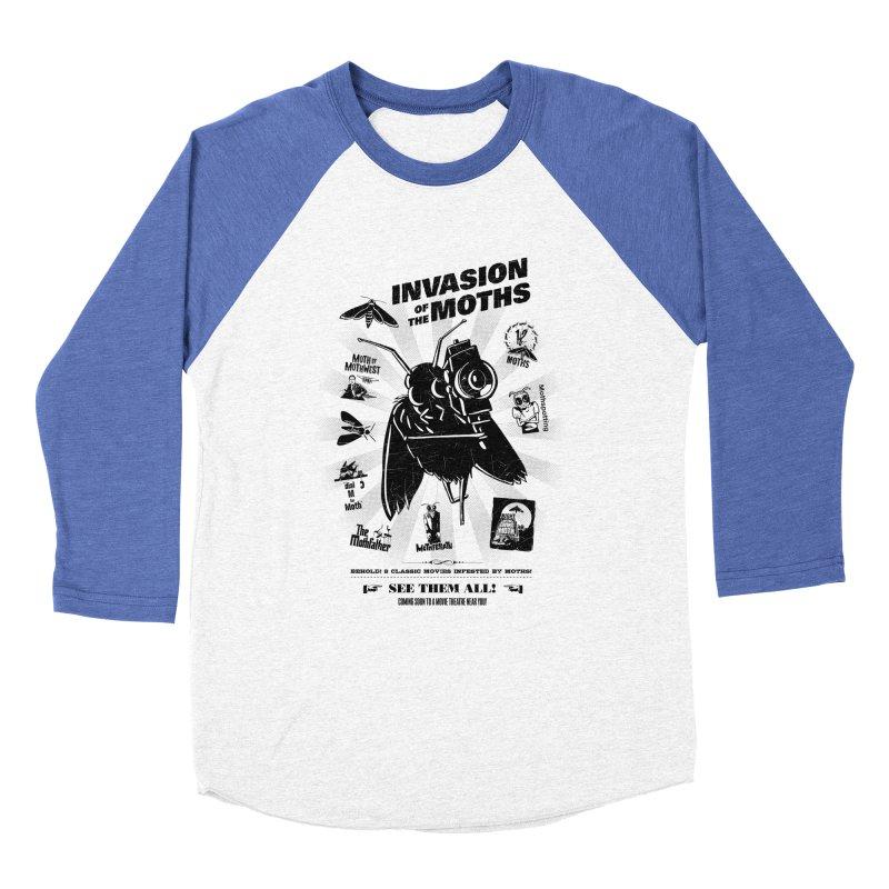 Invasion of the Moths Men's Baseball Triblend Longsleeve T-Shirt by Urban Prey's Artist Shop
