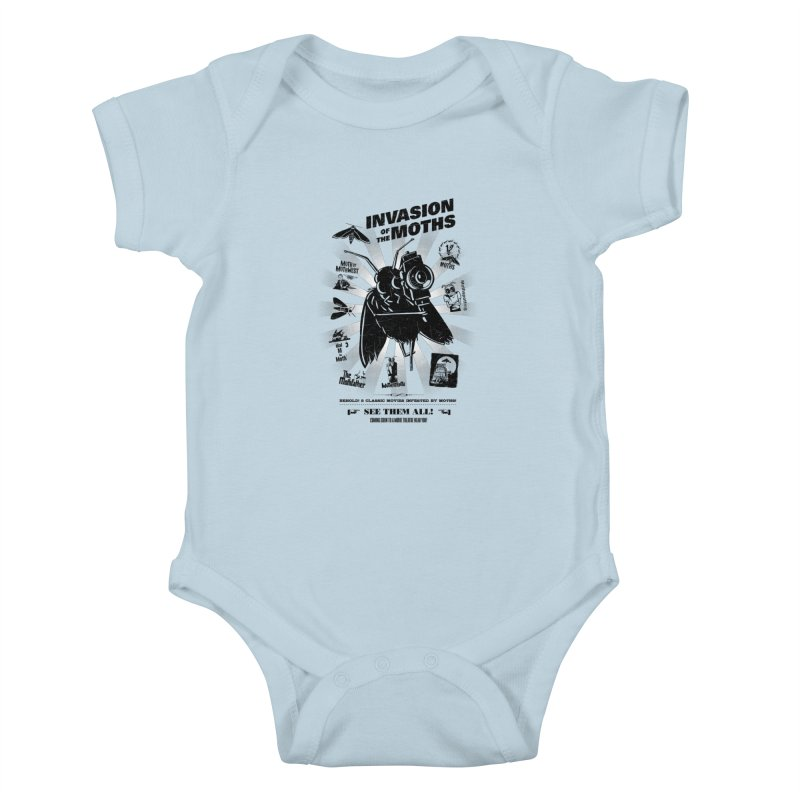 Invasion of the Moths Kids Baby Bodysuit by Urban Prey's Artist Shop