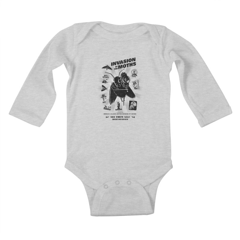 Invasion of the Moths Kids Baby Longsleeve Bodysuit by Urban Prey's Artist Shop