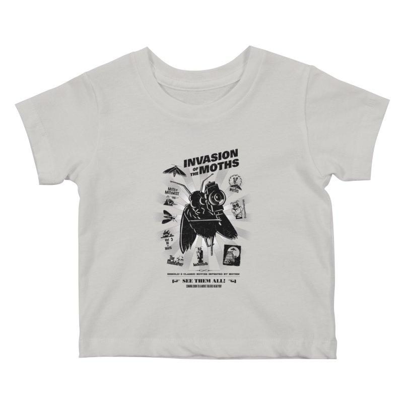 Invasion of the Moths Kids Baby T-Shirt by Urban Prey's Artist Shop