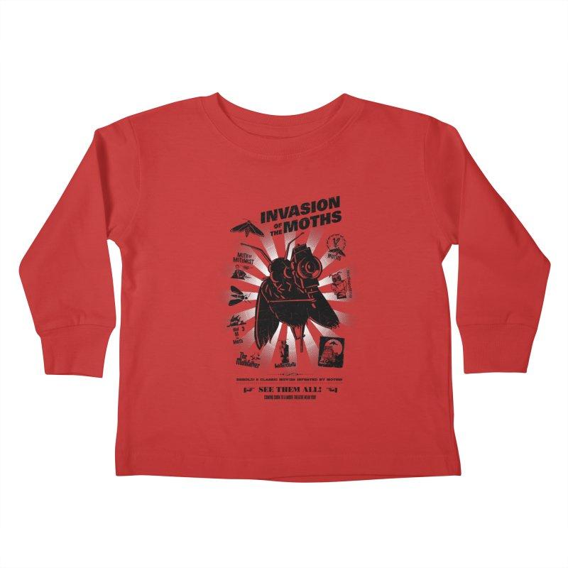 Invasion of the Moths Kids Toddler Longsleeve T-Shirt by Urban Prey's Artist Shop