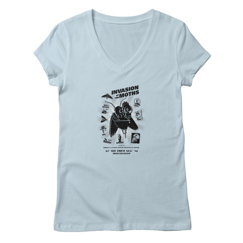 Invasion of the Moths Women's V-Neck by Urban Prey's Artist Shop