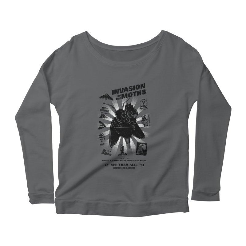Invasion of the Moths Women's Scoop Neck Longsleeve T-Shirt by Urban Prey's Artist Shop