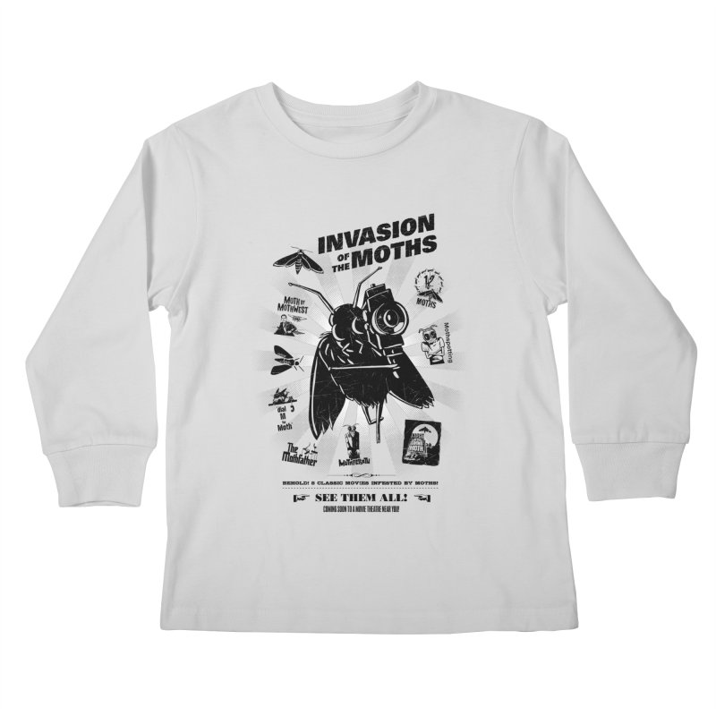 Invasion of the Moths Kids Longsleeve T-Shirt by Urban Prey's Artist Shop