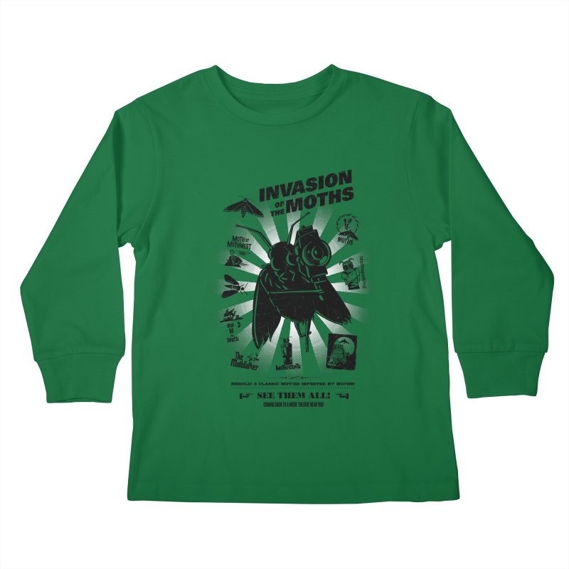 Invasion of the Moths Kids Longsleeve T-Shirt by Urban Prey's Artist Shop