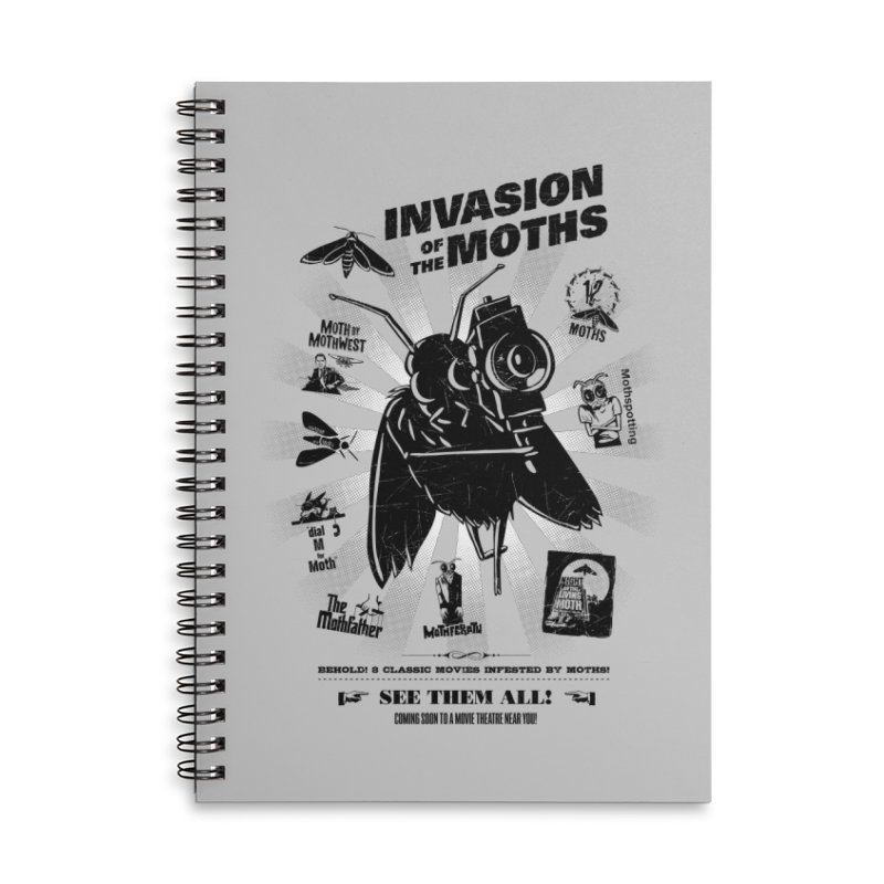 Invasion of the Moths Accessories Lined Spiral Notebook by Urban Prey's Artist Shop