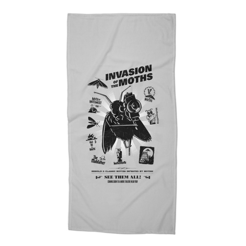 Invasion of the Moths Accessories Beach Towel by Urban Prey's Artist Shop