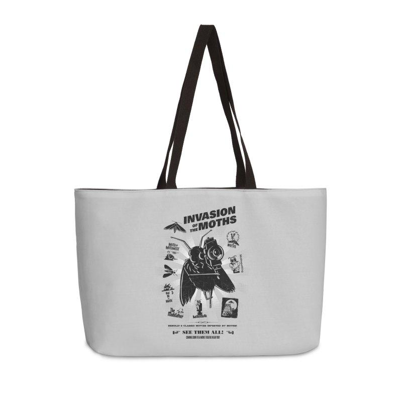 Invasion of the Moths Accessories Weekender Bag Bag by Urban Prey's Artist Shop