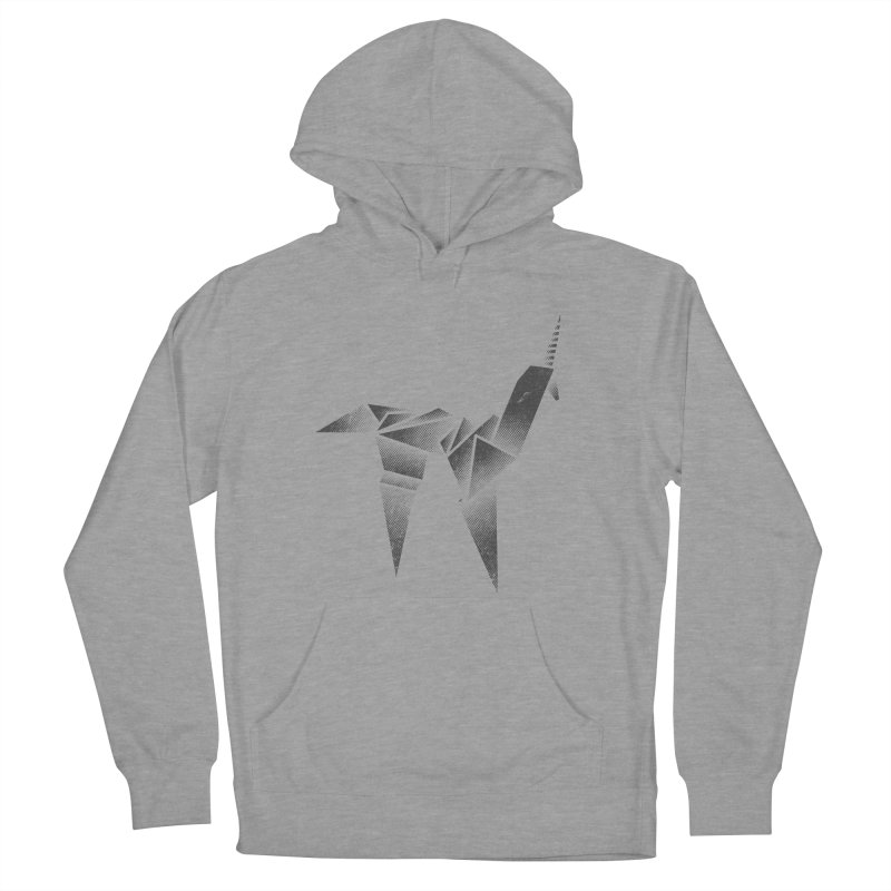 Origami Unicorn Men's French Terry Pullover Hoody by Urban Prey's Artist Shop