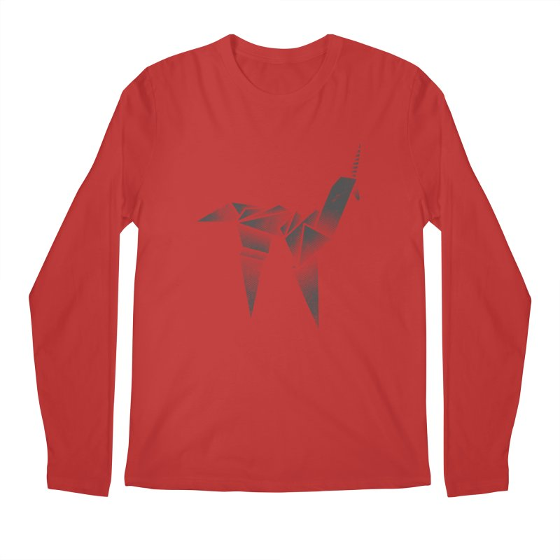 Origami Unicorn Men's Regular Longsleeve T-Shirt by Urban Prey's Artist Shop