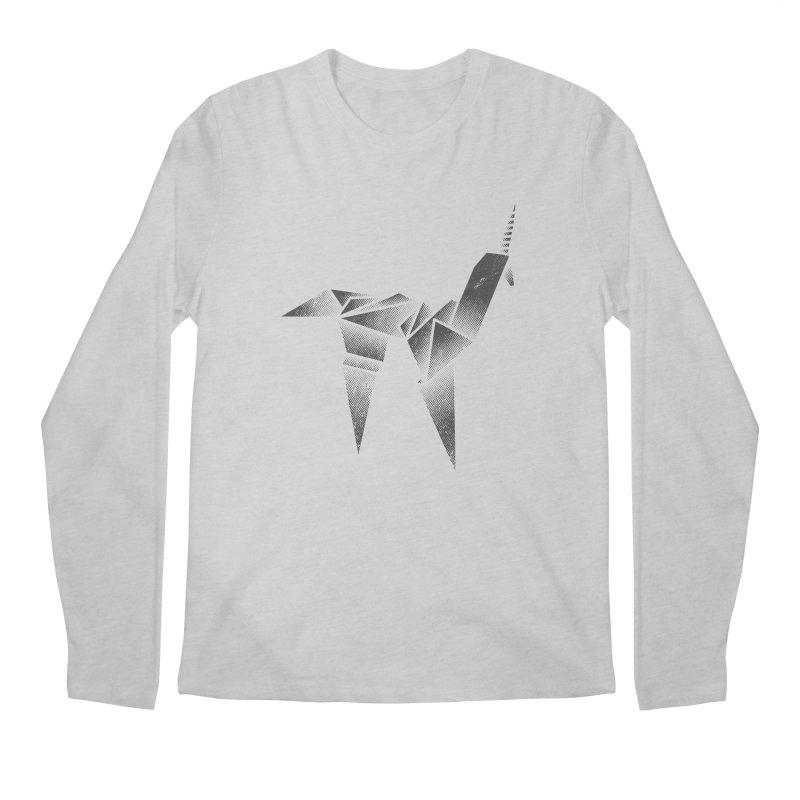 Origami Unicorn Men's Regular Longsleeve T-Shirt by Urban Prey's Artist Shop