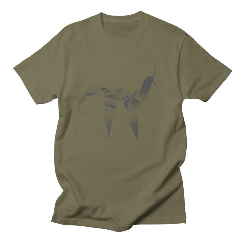 Origami Unicorn Men's T-Shirt by Urban Prey's Artist Shop