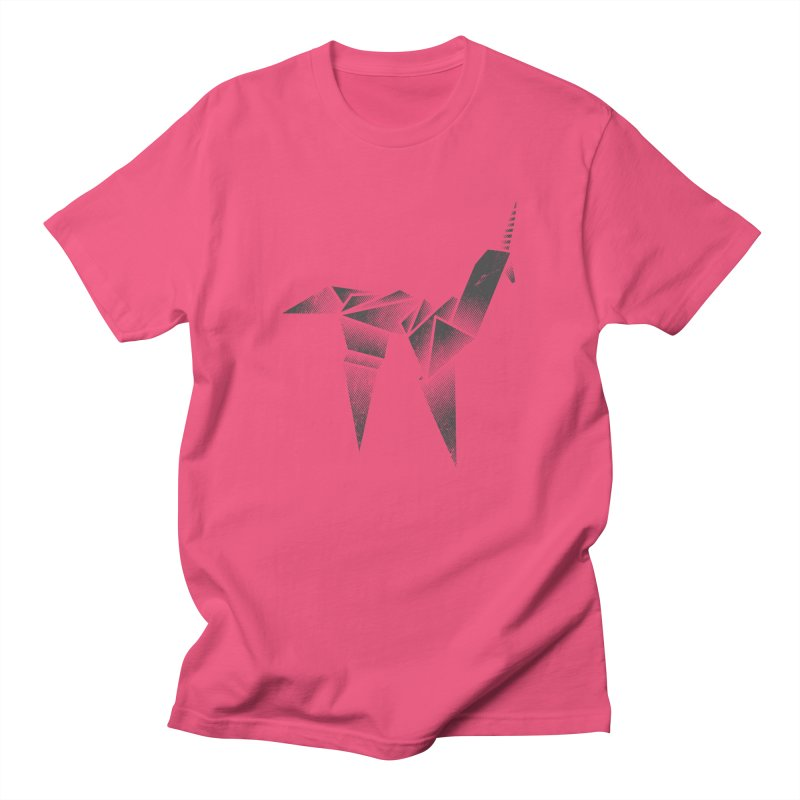 Origami Unicorn Men's Regular T-Shirt by Urban Prey's Artist Shop