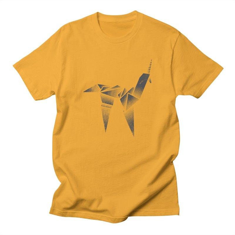 Origami Unicorn Men's Regular T-Shirt by Urban Prey's Artist Shop
