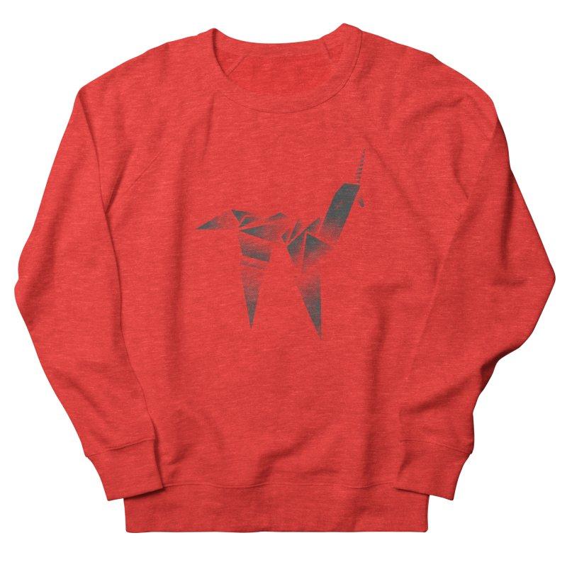 Origami Unicorn Men's Sweatshirt by Urban Prey's Artist Shop