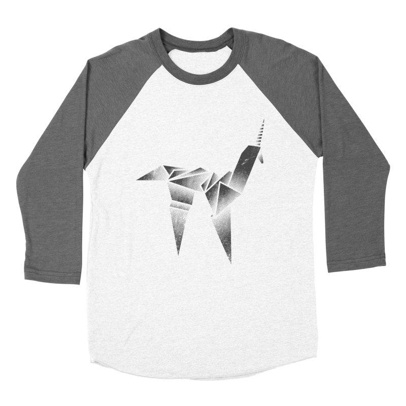 Origami Unicorn Men's Baseball Triblend T-Shirt by Urban Prey's Artist Shop