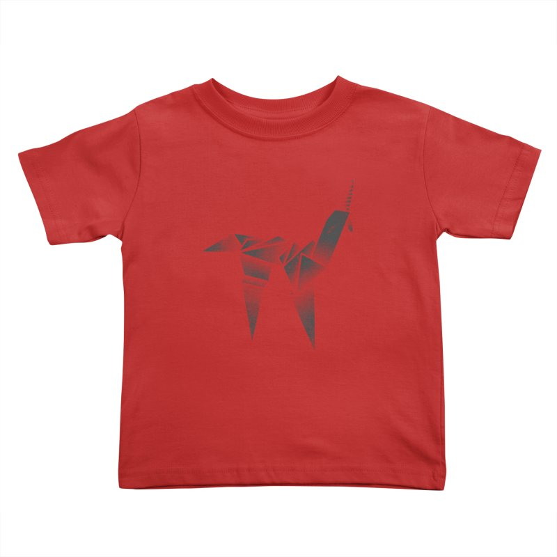 Origami Unicorn Kids Toddler T-Shirt by Urban Prey's Artist Shop