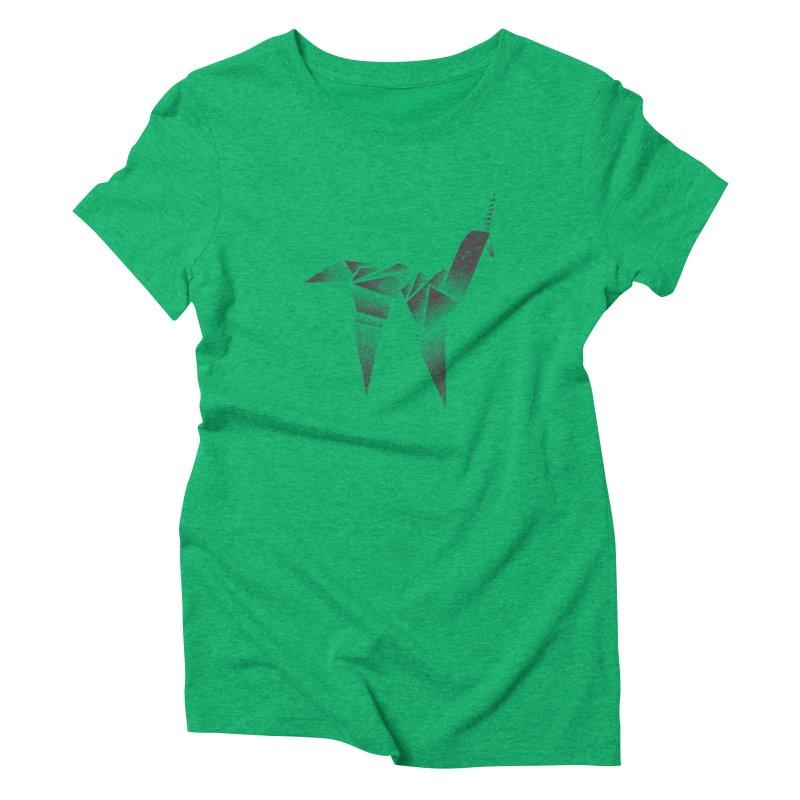 Origami Unicorn Women's T-Shirt by Urban Prey's Artist Shop