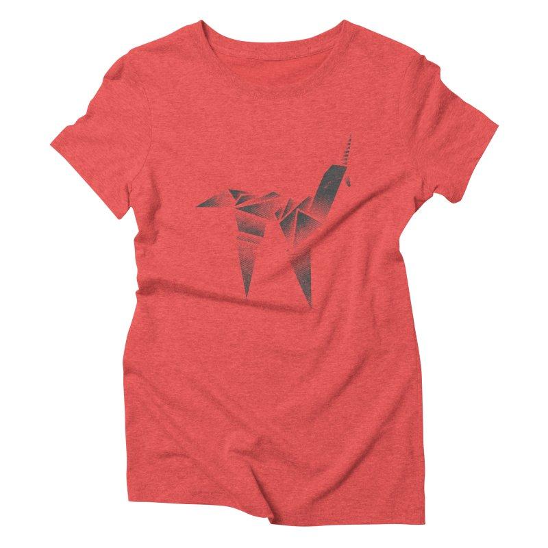 Origami Unicorn Women's Triblend T-Shirt by Urban Prey's Artist Shop