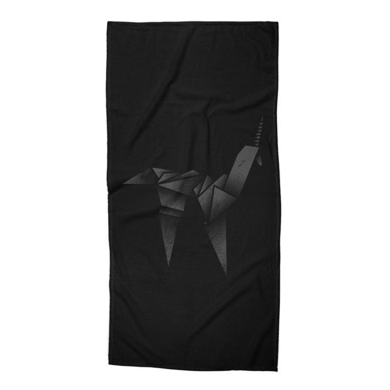 Origami Unicorn Accessories Beach Towel by Urban Prey's Artist Shop