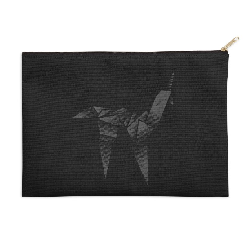 Origami Unicorn Accessories Zip Pouch by Urban Prey's Artist Shop
