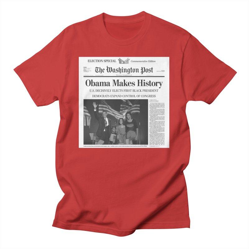 Obama Makes History Men's T-Shirt by URBAN TREE CANOPY