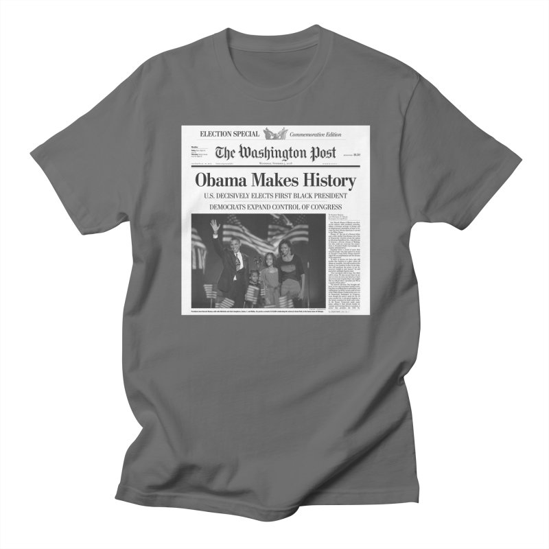 Obama Makes History Men's T-Shirt by URBAN TREE CANOPY