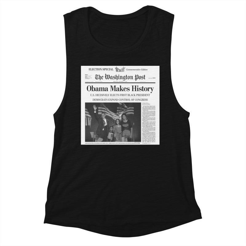 Obama Makes History Women's Tank by URBAN TREE CANOPY