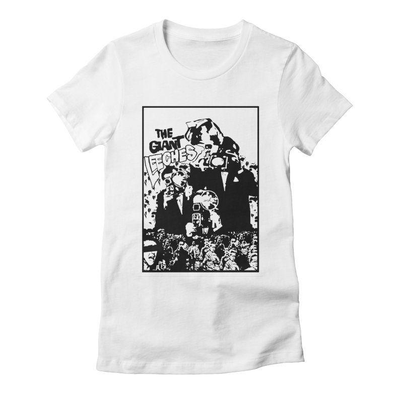 The Giant Leeches Women's Fitted T-Shirt by urhere's Artist Shop