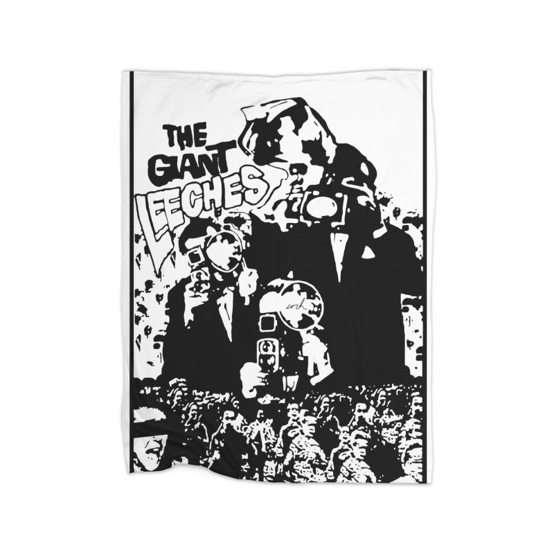 The Giant Leeches Home Blanket by urhere's Artist Shop