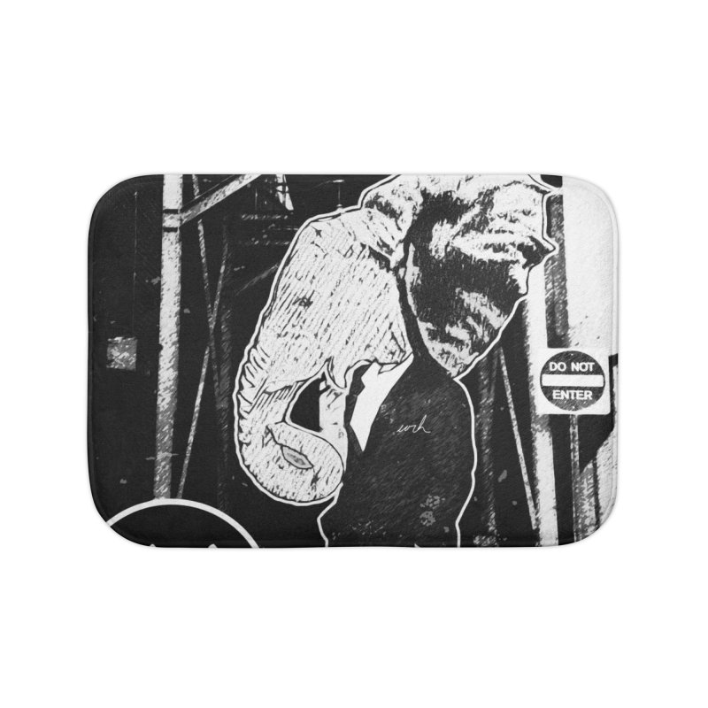 The Wanderers Home Bath Mat by urhere's Artist Shop