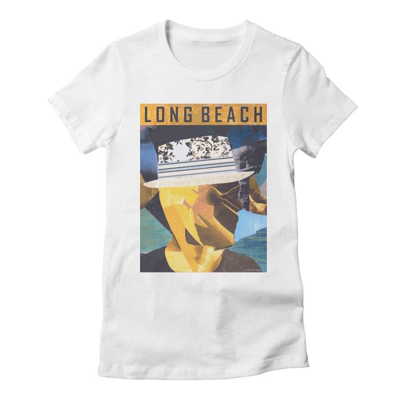 Long Beach Magazine Women's Fitted T-Shirt by urhere's Artist Shop