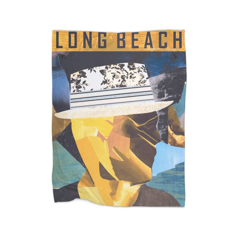 Long Beach Magazine Home Blanket by urhere's Artist Shop