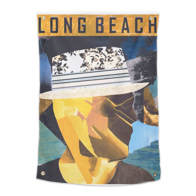 Long Beach Magazine Home Tapestry by urhere's Artist Shop