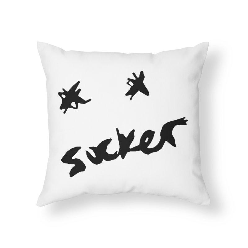 Sucker =P Home Throw Pillow by urhere's Artist Shop