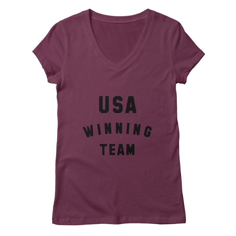 USA WINNING TEAM Women's Regular V-Neck by USA WINNING TEAM™