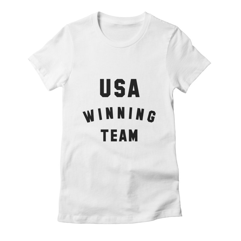USA WINNING TEAM in Women's Fitted T-Shirt White by USA WINNING TEAM™