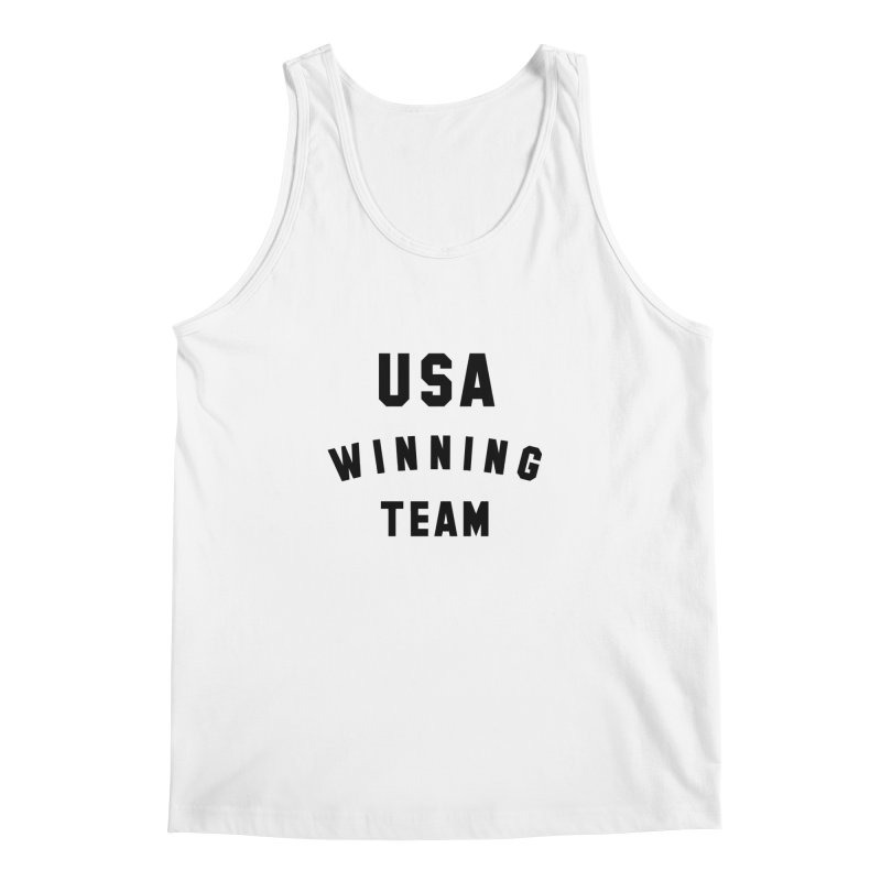 USA WINNING TEAM in Men's Regular Tank White by USA WINNING TEAM™