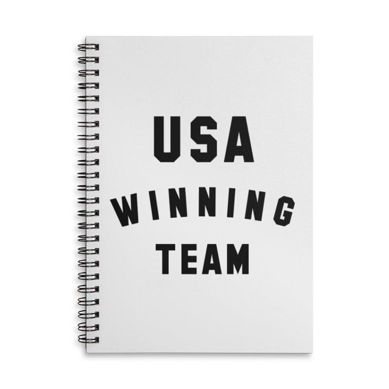 USA WINNING TEAM Accessories Lined Spiral Notebook by USA WINNING TEAM™