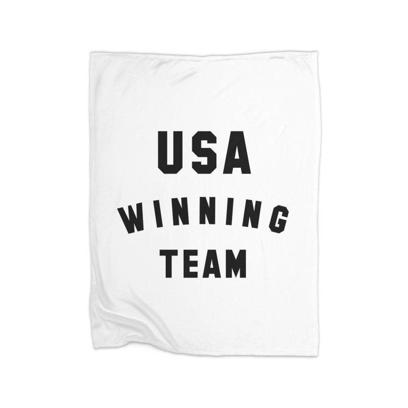 USA WINNING TEAM Home Fleece Blanket Blanket by USA WINNING TEAM™