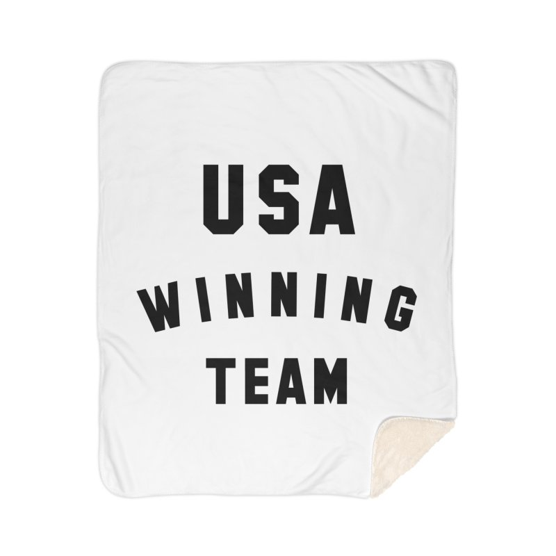 USA WINNING TEAM Home Sherpa Blanket Blanket by USA WINNING TEAM™