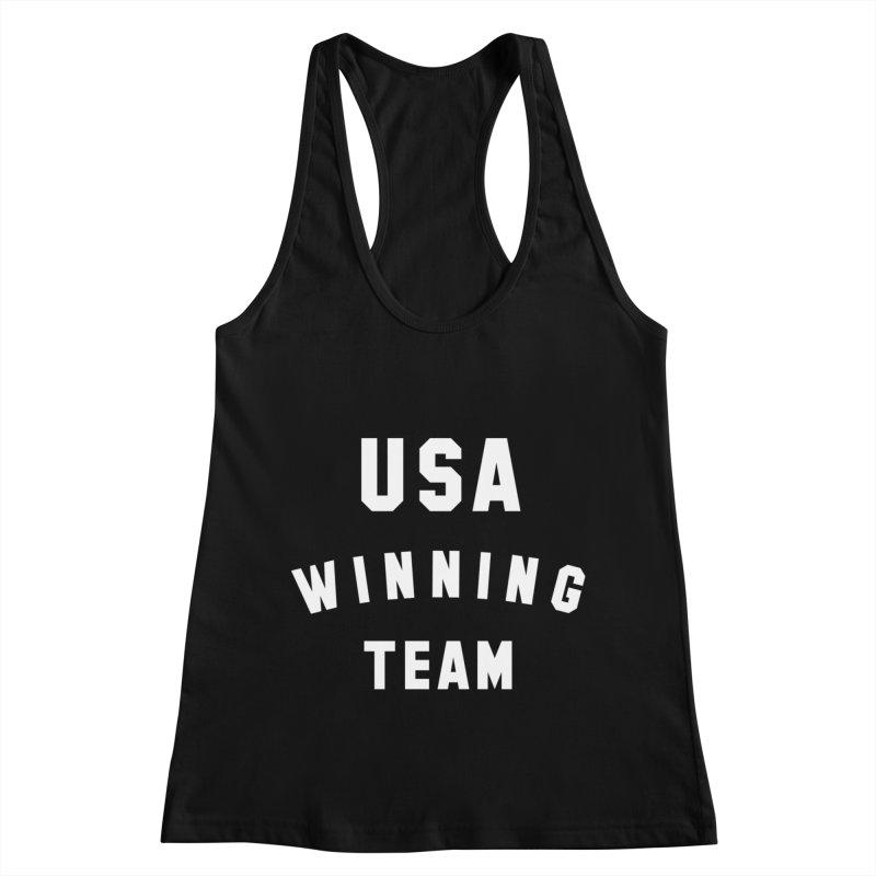 USA WINNING TEAM in Women's Racerback Tank Black by USA WINNING TEAM™