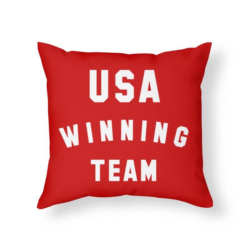 USA WINNING TEAM Home Throw Pillow by USA WINNING TEAM™