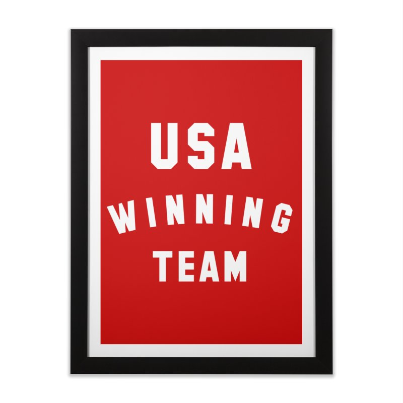 USA WINNING TEAM Home Framed Fine Art Print by USA WINNING TEAM™