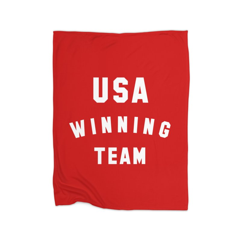 USA WINNING TEAM Home Fleece Blanket Blanket by USA WINNING TEAM™