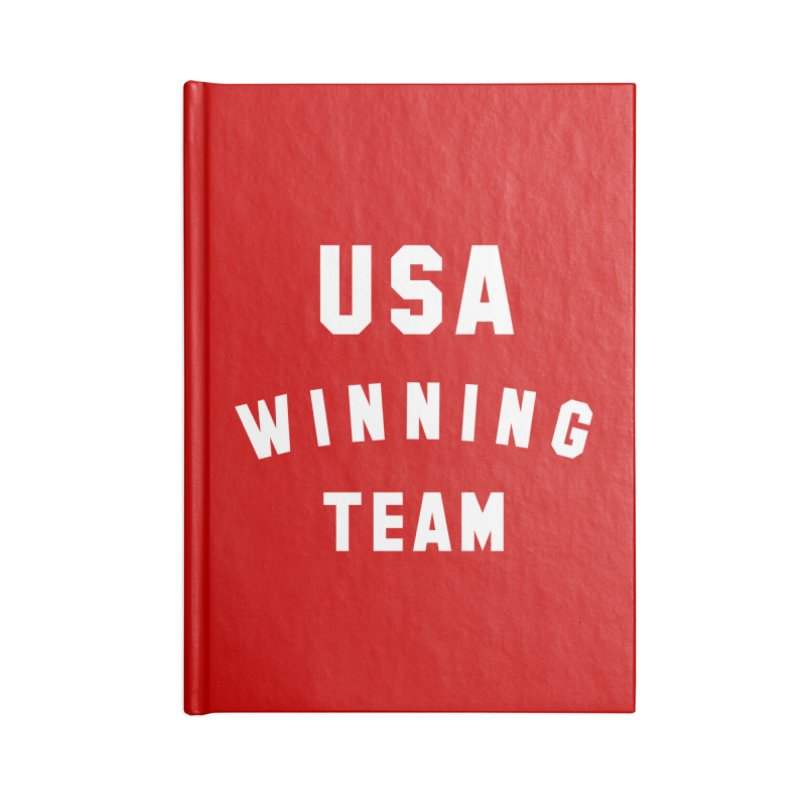 USA WINNING TEAM Accessories Blank Journal Notebook by USA WINNING TEAM™