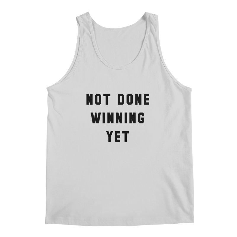 NOT DONE WINNING YET in Men's Regular Tank Heather Grey by USA WINNING TEAM™
