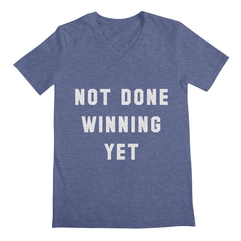 NOT DONE WINNING YET Men's Regular V-Neck by USA WINNING TEAM™
