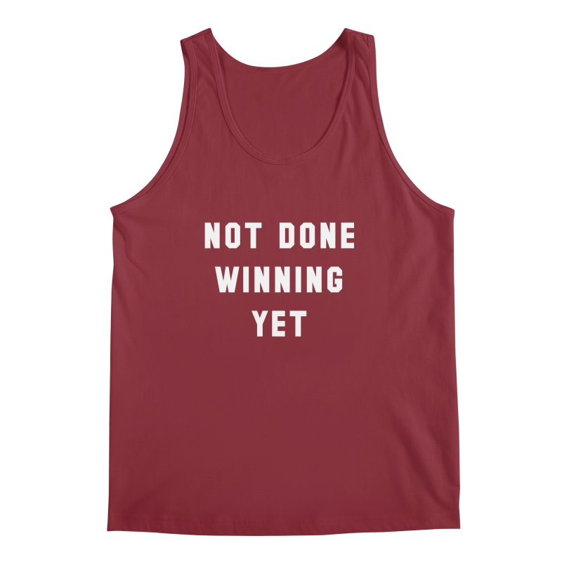 NOT DONE WINNING YET Men's Regular Tank by USA WINNING TEAM™