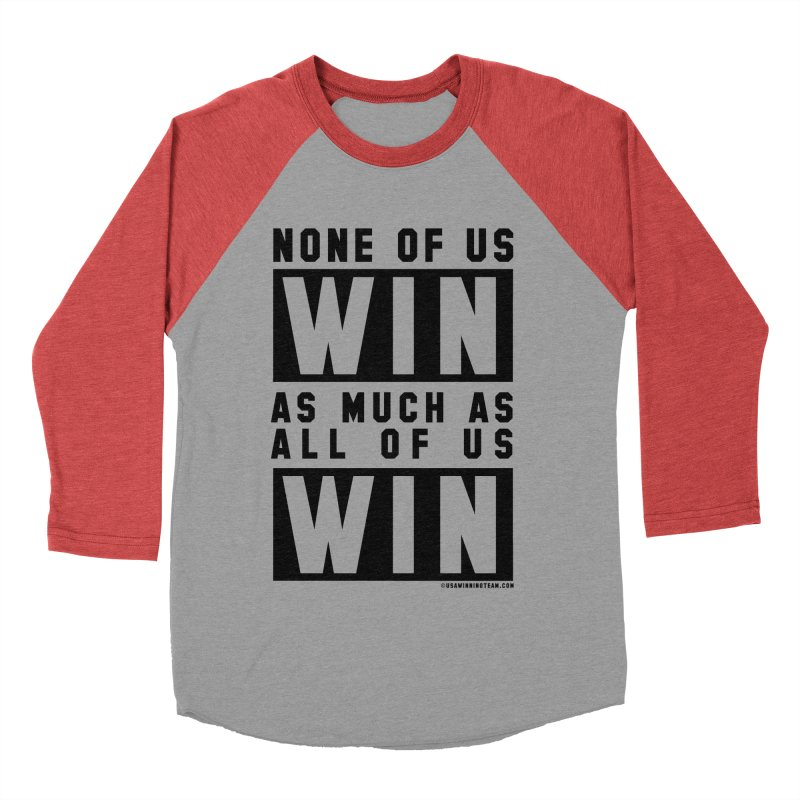 ALL OF US WIN Women's Baseball Triblend Longsleeve T-Shirt by USA WINNING TEAM™